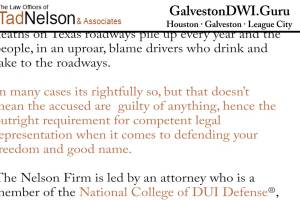 Don't Ever Plead Guilty to a DWI Offense in Galveston